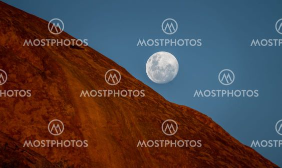 The Fullmoon rises over Spitzkoppe in Namibia