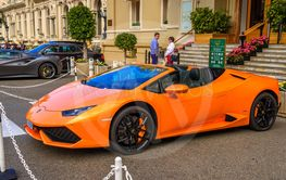 MONTE-CARLO, MONACO - JUN 2017: orange LAMBORGHINI...