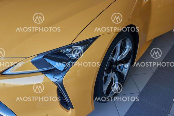Lexus LC 500 luxury coupe detail