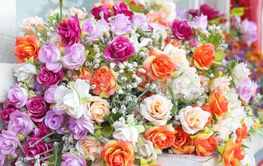 Close up bouquet of rose flowers