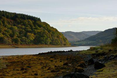 Loch Drumnean, Scottish scenary along A816 to Kilmelfort