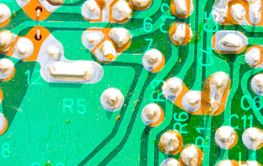 Old Dusty Printed Circuit