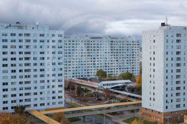 Utsikt över Hagalund, Solna, Sverige.