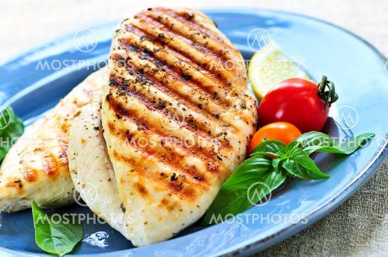 Grillet kylling bryst