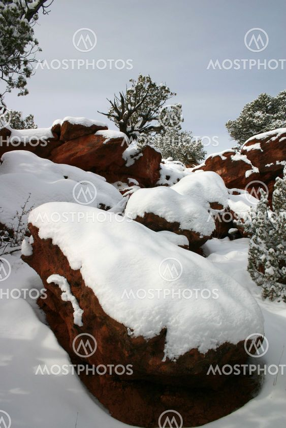 Red Canyon snö