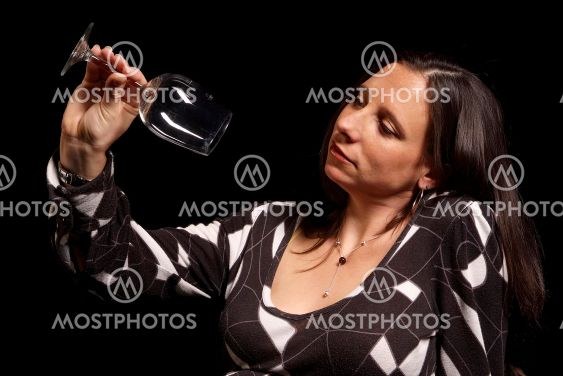 Frau mit Glas | woman with glass