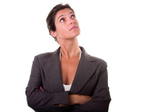 affärskvinna tänker
