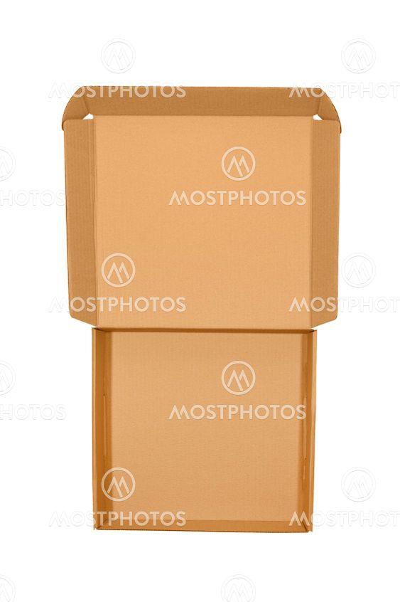 Open pizza cardboard
