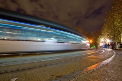 streetcar by night
