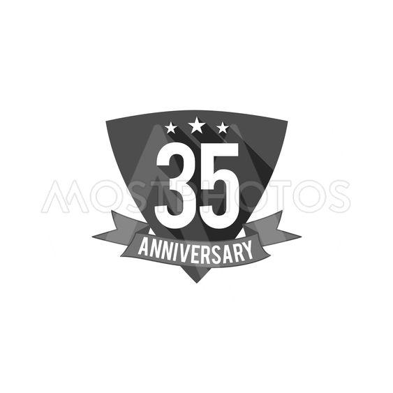 35 Years Anniversary Badge Av Evgen Radchenko Mostphotos