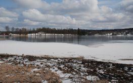Vintervy vid sjön  (Sweden)