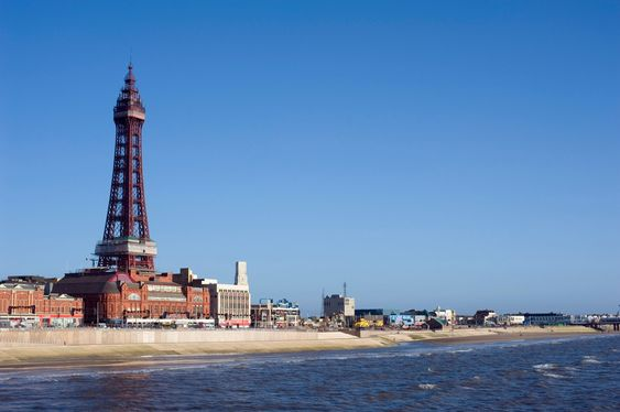 Blackpool waterfront with Blackpool Tower