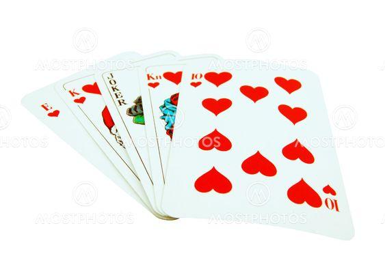 Card Royal flush with joker
